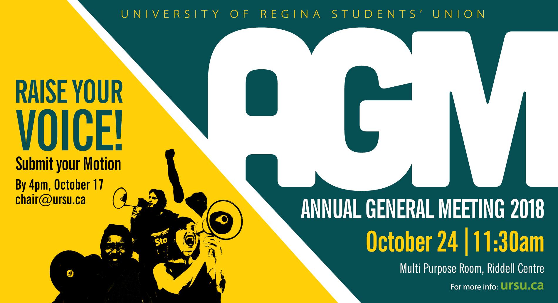 URSU AGM Set for October 24th